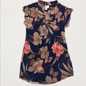 Anthropologie Flowered Fluttery Top SP